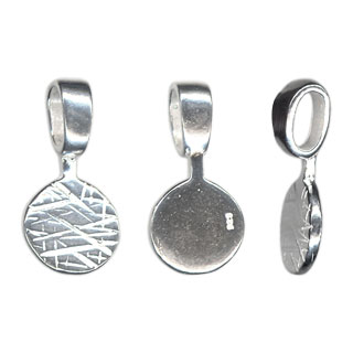 8mm flat pad mounting bail sterling silver 8mm flat pad mounting bail sterling silver view 1 mozeypictures Images