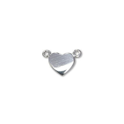 8mm Heart Tag Link Sterling Silver