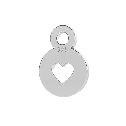 5mm Mini Heart End Tag Sterling Silver